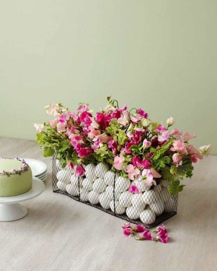 Blumenbehälter Ostereier Frühlingsdeko
