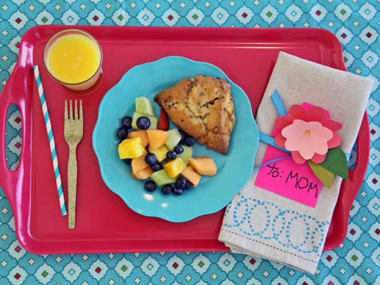 Muttertag Frühstück Grußkarte