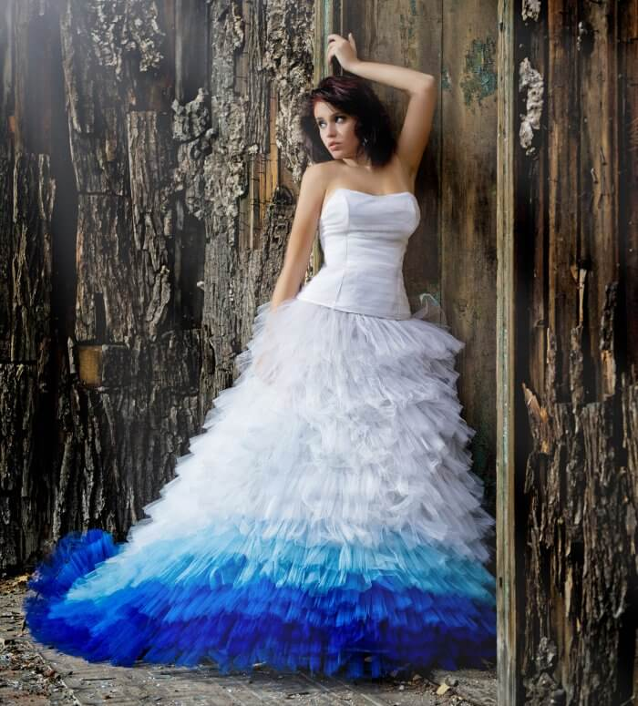 tolles Hochzeitskleid Ombre Effekt
