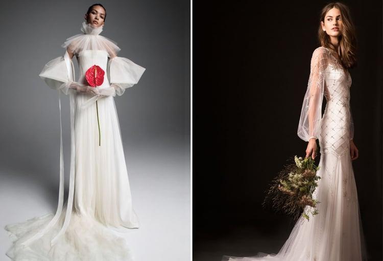 stilvolle Hochzeitskleider Puffärmel