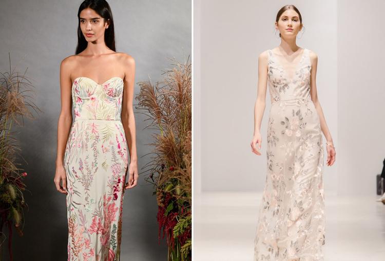 Brautkleider 2019 florale Motive