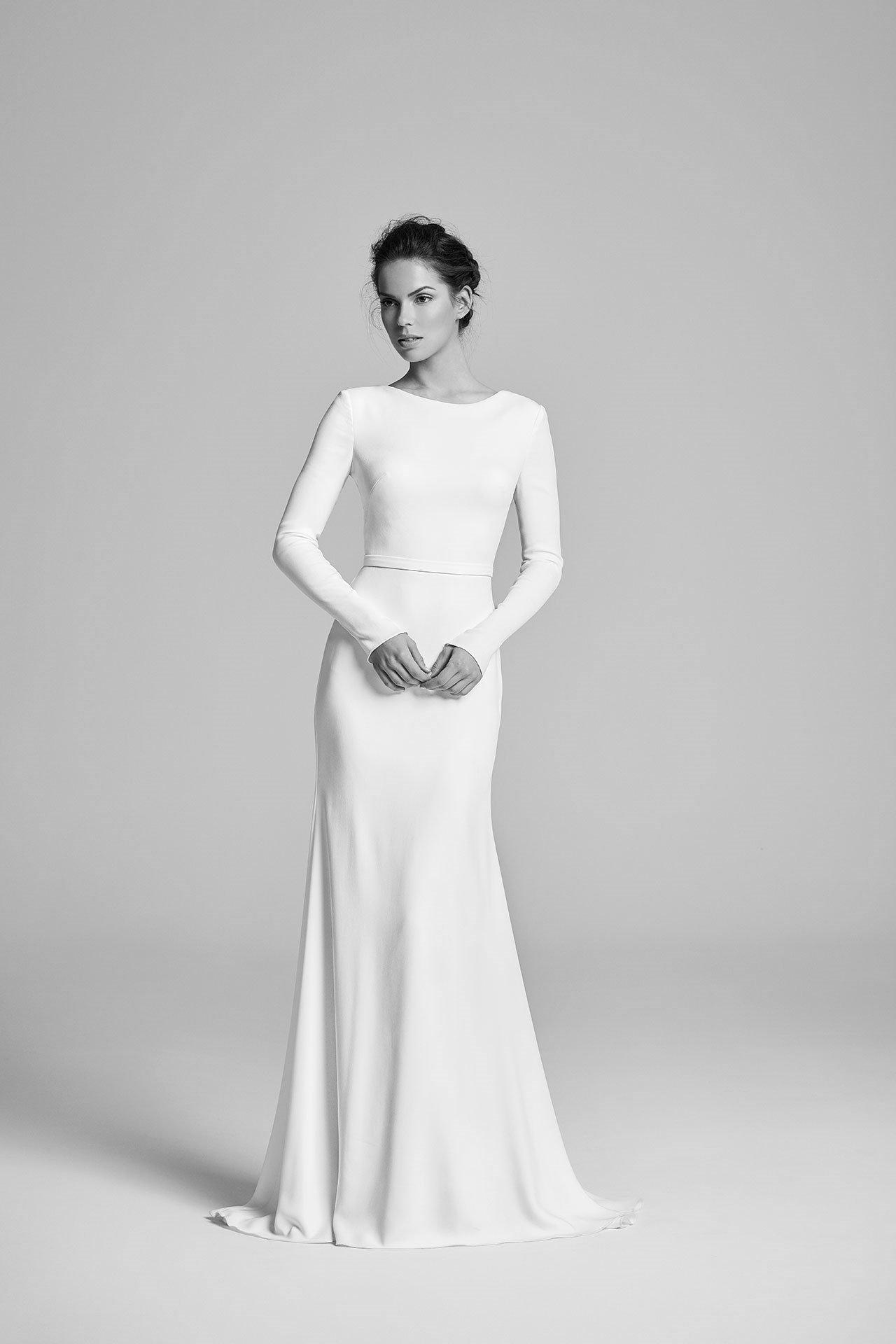 Brautkleider 2019 stilvoll sehr puristisch