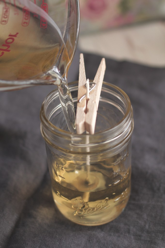 Muttertagsgeschenke basteln Kerzen DIY