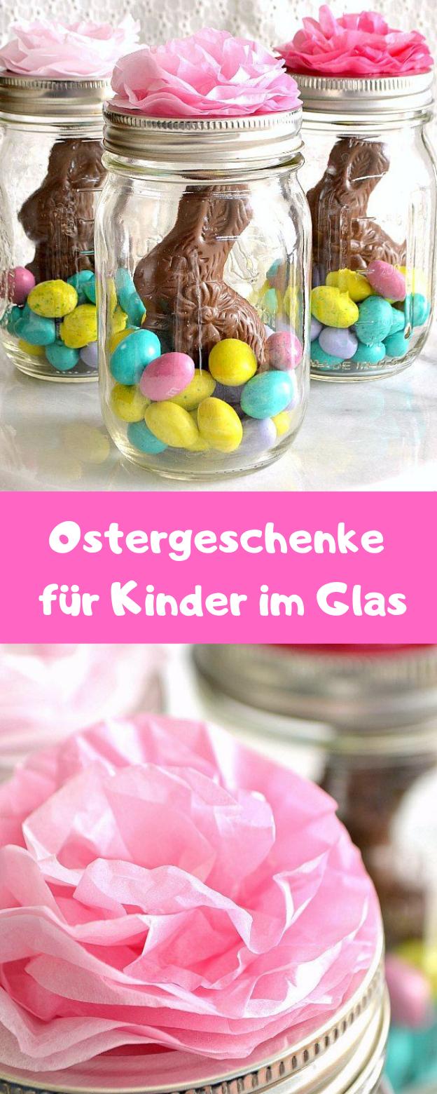 Ostergeschenke für Kinder im Glas