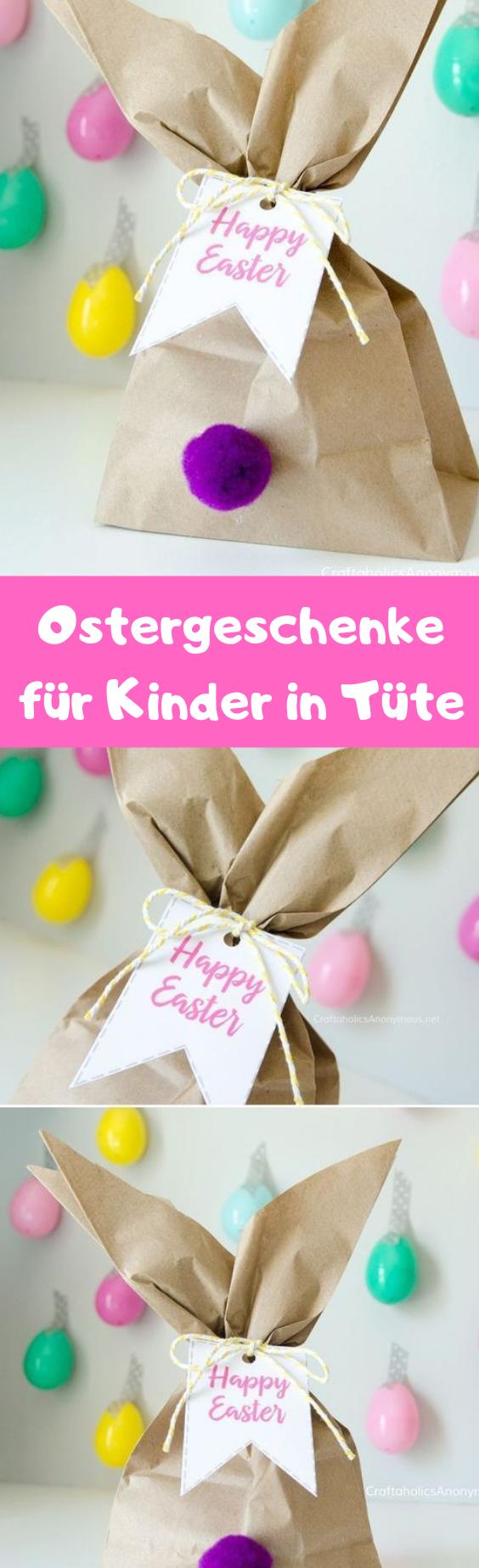 Ostergeschenke für Kinder in Tüte