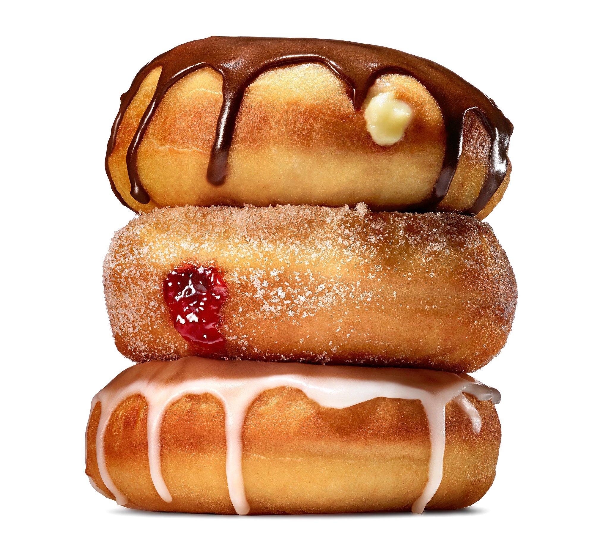 schmackhafte Donuts mit Kuvertüre
