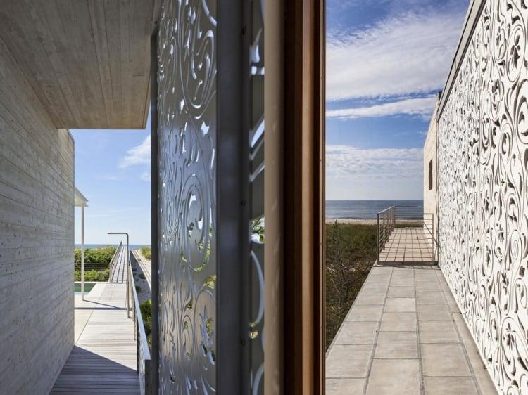 Sichtschutzzaun Metall Garten Außenbereich