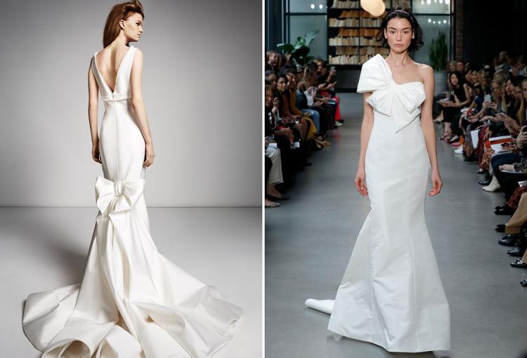 modernes Hochzeitskleid Schleifen