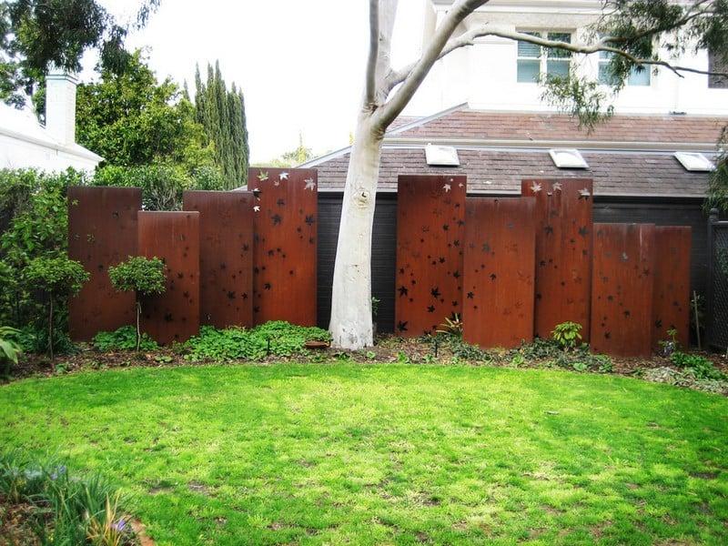 Profilen aus Cortenstahl Garten Sichtschutz