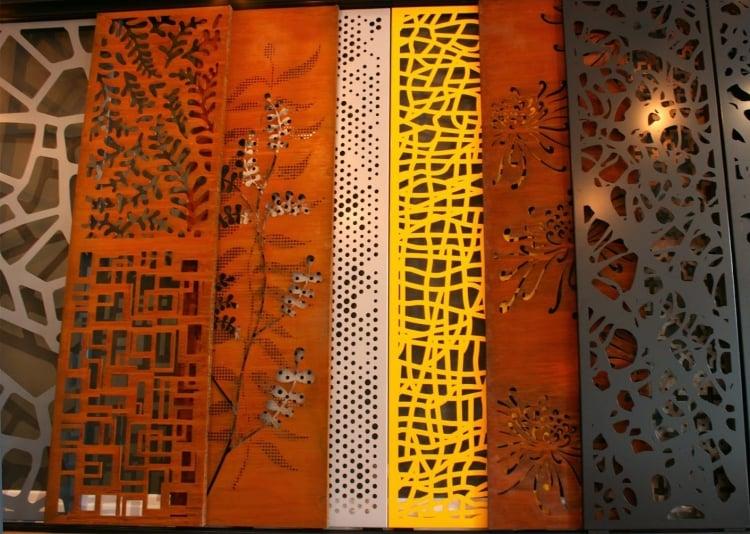 Sichtschutz aus Metall Garten verschiedene Farben
