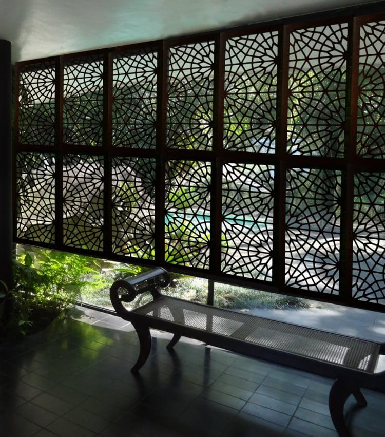Sitzecke Sichtschutz Außenbereich Metall