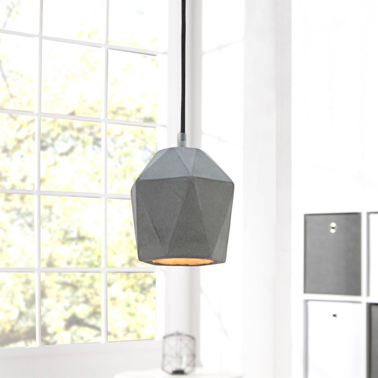 Betonlampe hängende Lampe Lampenschirm