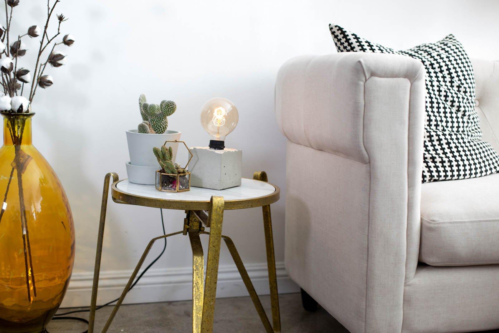 Betonlampe selber machen - Ideen und Anregungen