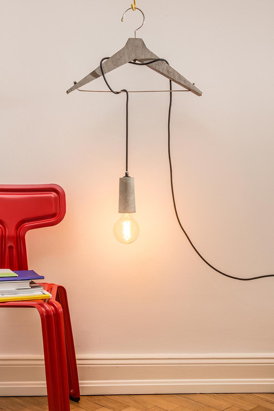 Betonlampe im skandinavischen Stil