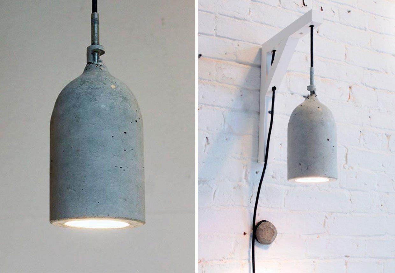 Betonlampe an die Wand hängen