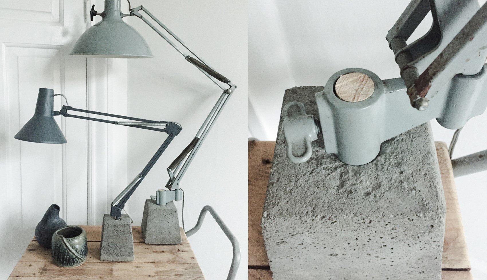 Betonlampe mit Metal selber machen