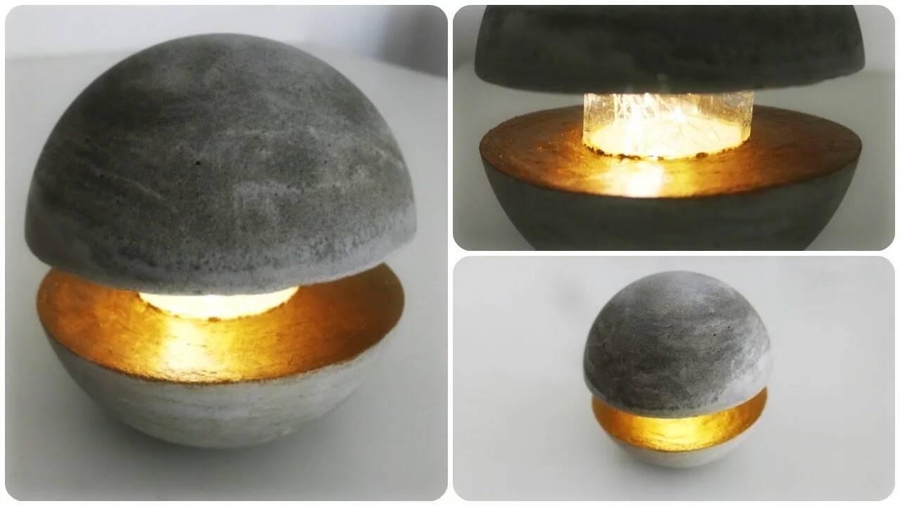 Betonlampe Taschenlampe selber machen