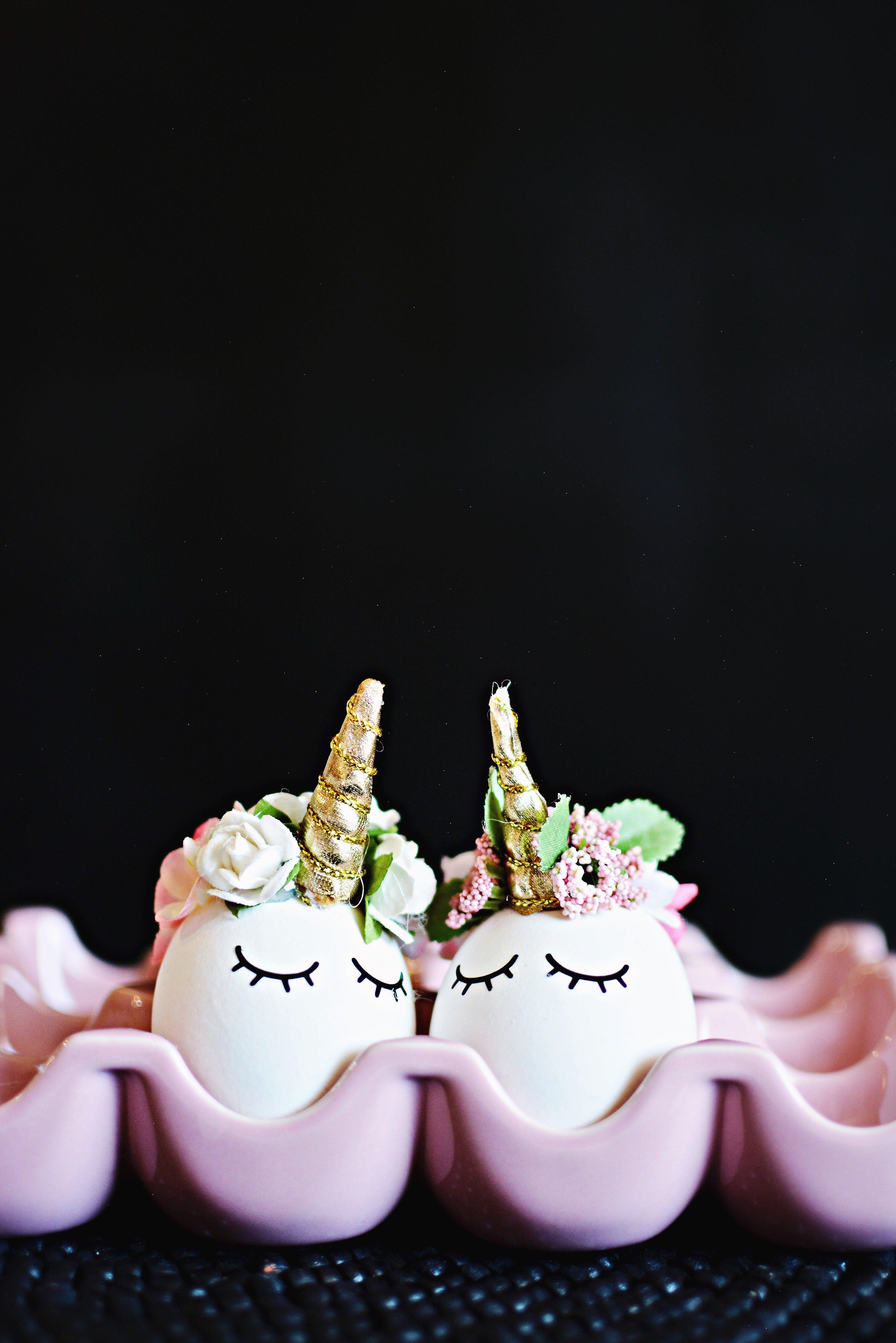 Oster Deko - Ausgeblasene Eier wie Einhorn dekorieren