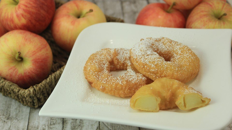 Donut Rezept mit Apfelringen gesund kalorienarm