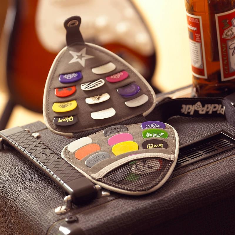 Geschenk Ledertasche Gitarre Plektren