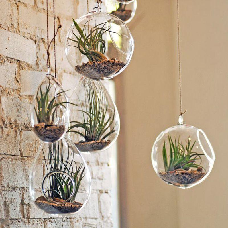 Frühlingsdeko selber machen Blumentöpfe Glas hängend