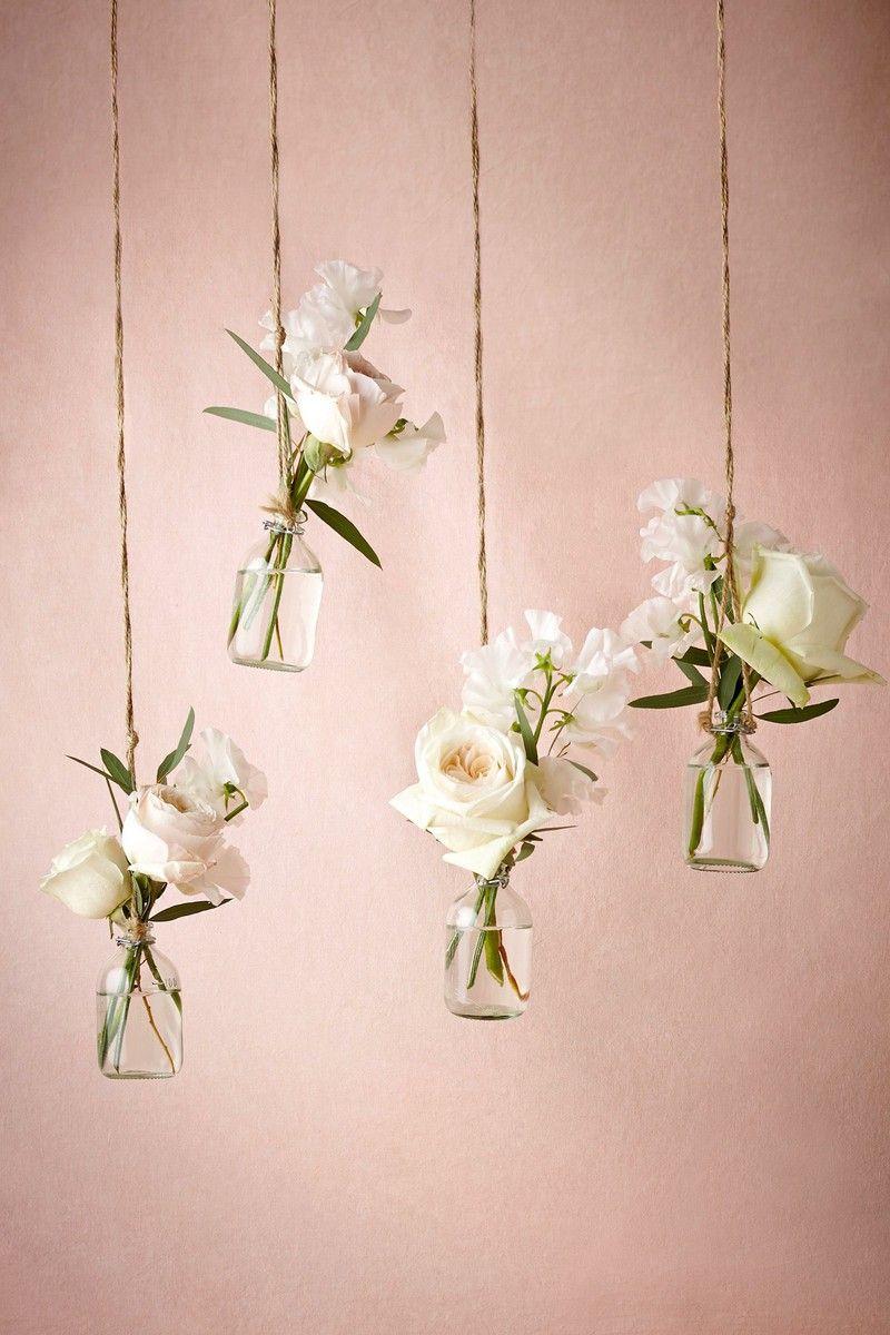 Frühlingsdeko selber machen Blumenbehälter hängend romantisch
