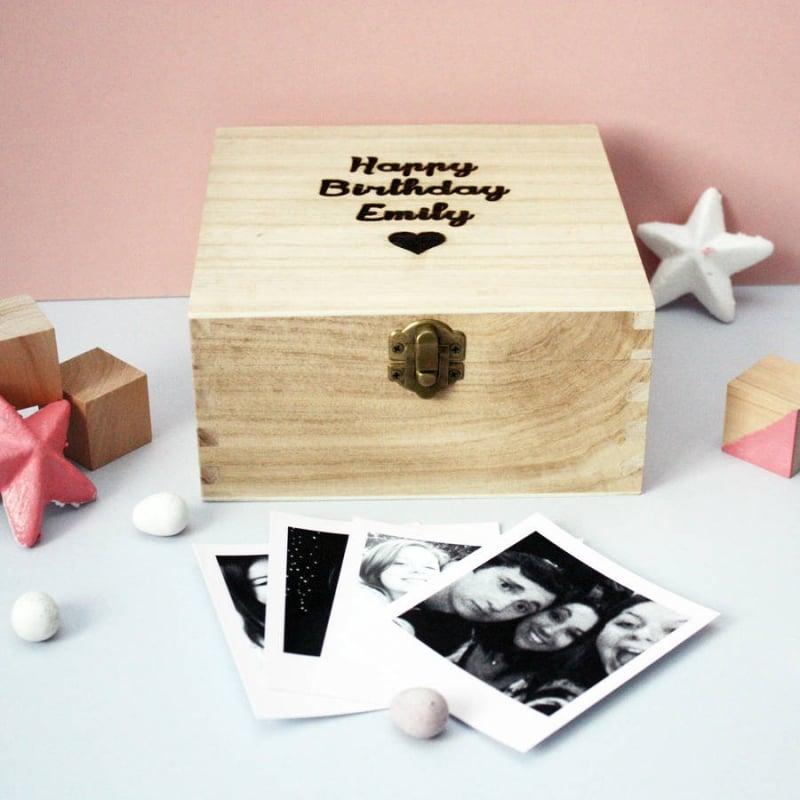 Geschenk Mädchen Holzbox