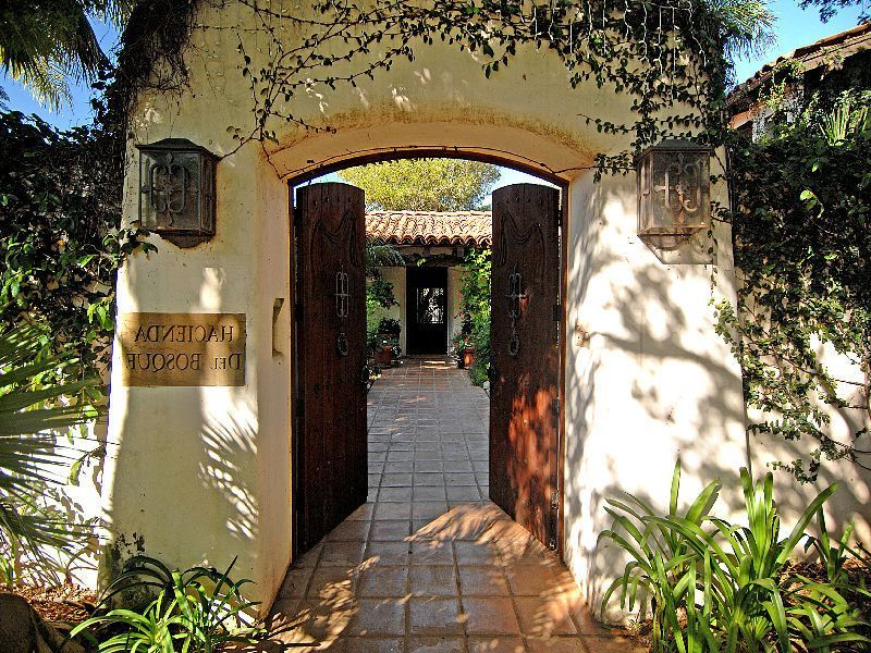 Innenhof Spanischer Häuser: Eingang