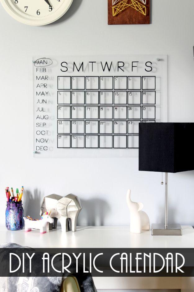 Kalender Selber Basteln mit Acryl Farben