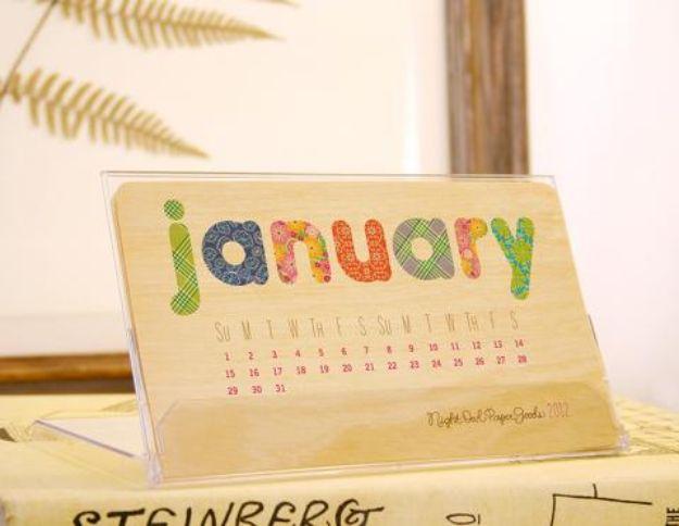 Kalender Selber Basteln: bunt und süß