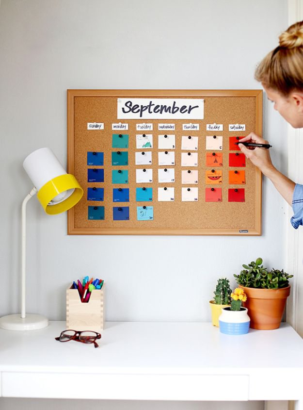 Kalender zum Selber Basteln mit kleinen Notitzen
