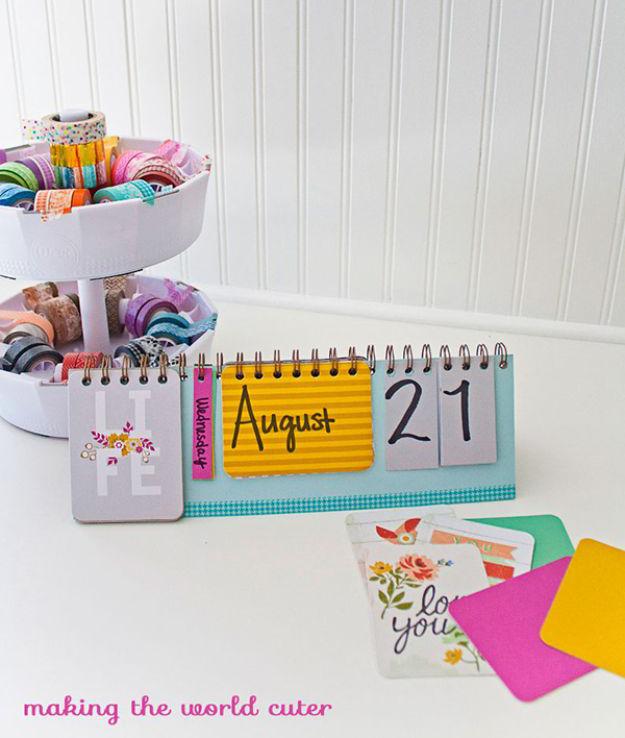 Kalender zum Selber Basteln für die kleinen Damen