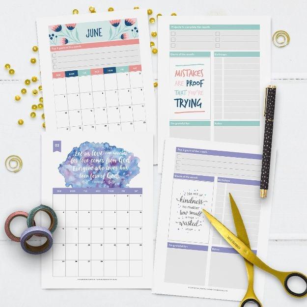 Kalender Selber Basteln mit Materialien vom Ihren Zuhause