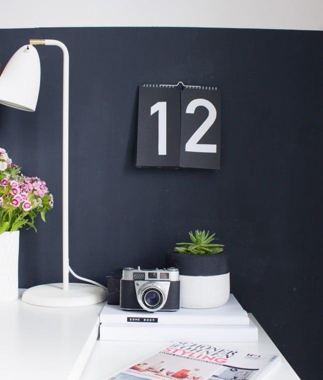 Kalender zum Selber Basteln in minimalistischen Stil