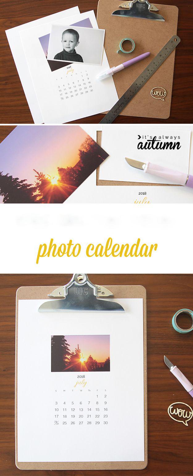 Kalender selber basteln mit Instagram Photos