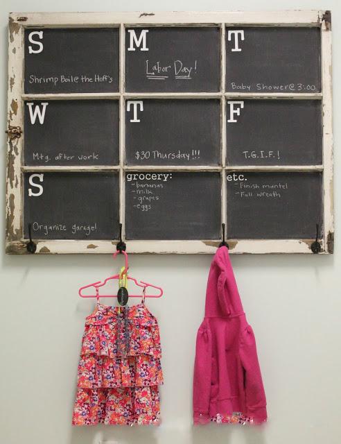 Kalender zum Selber Basteln mit Tafel