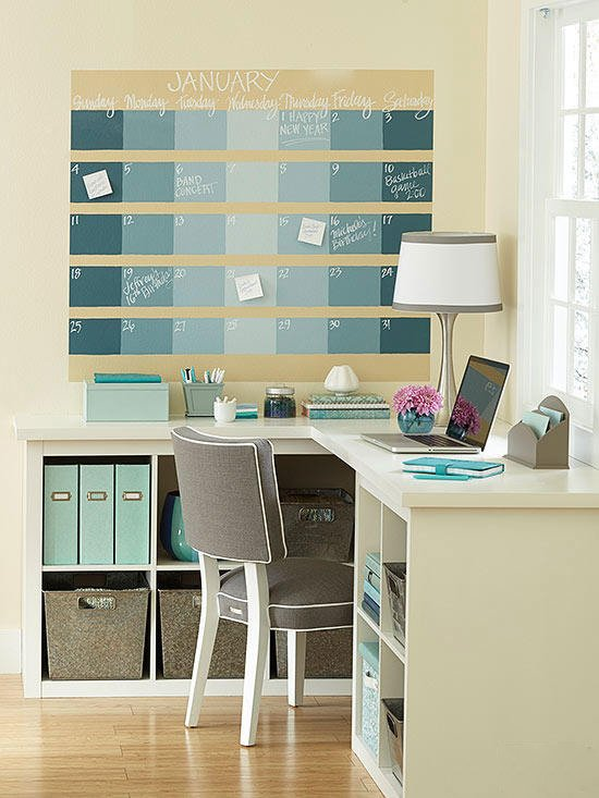 Kalender selber basteln für die Wand Ihres Büros