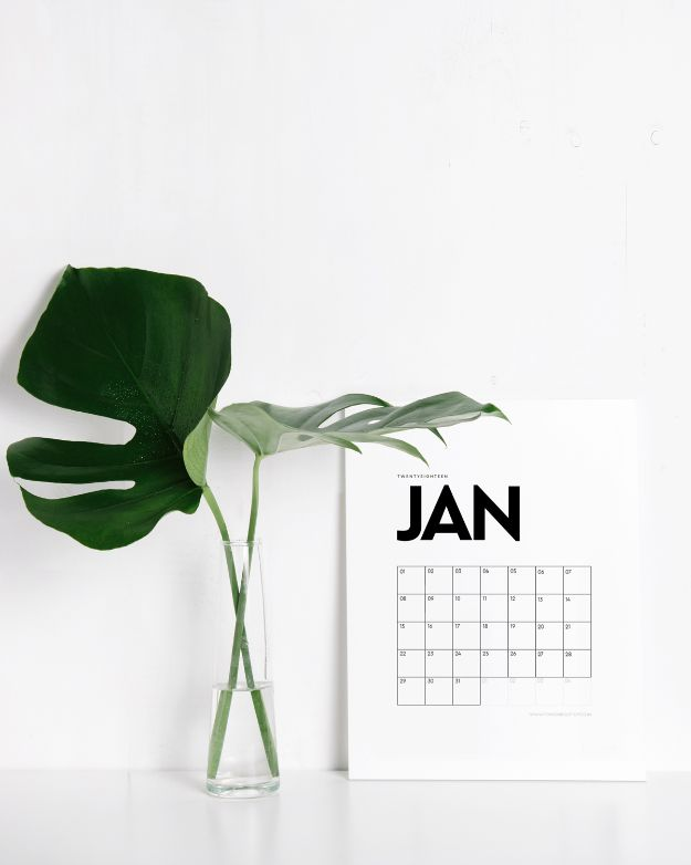 Kalender Selber Basteln: Skandinavischen Stil