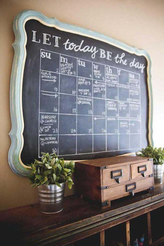 Kalender selber basteln in Provans Stil