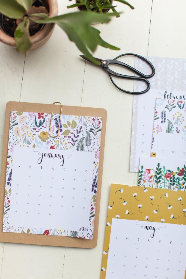 Kalender Selber Basteln mit schönen Vorlagen