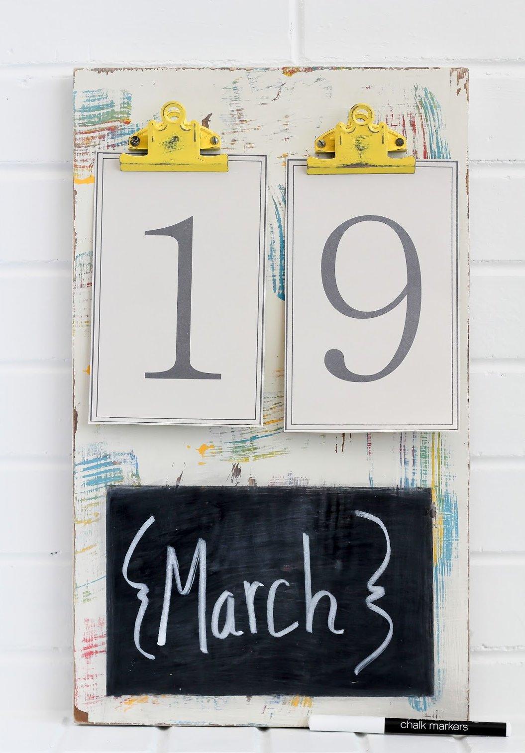Kalender selber basteln: Anleitung Schritt 6