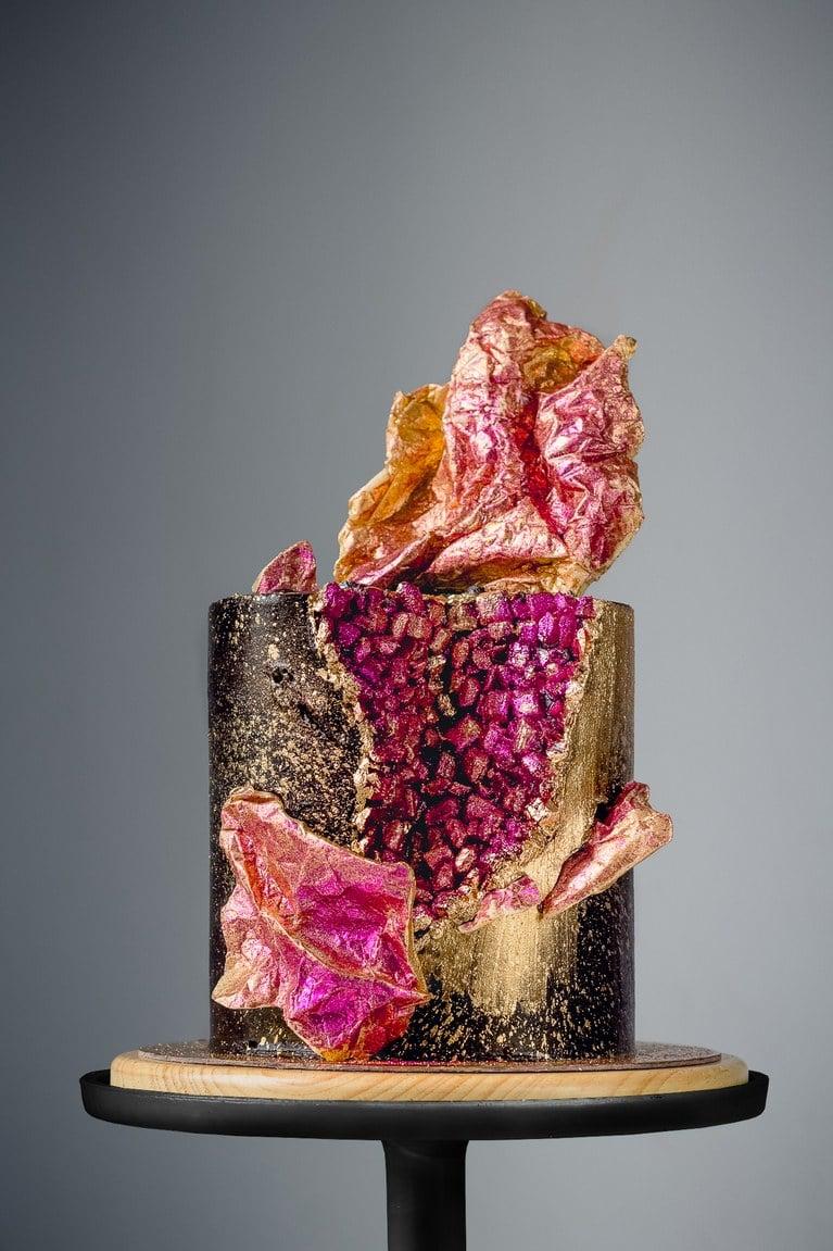 Hochzeitstorte modern - Geode Cake in Trend