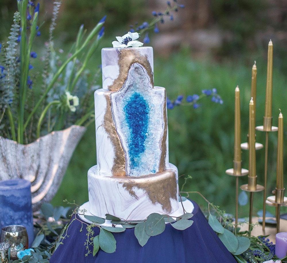 Hochzeitstorten Trend Kristall Torte oder Geode Cake ist angesagt