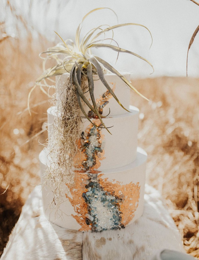 Hochzeitstorte Vintage Geode Cake