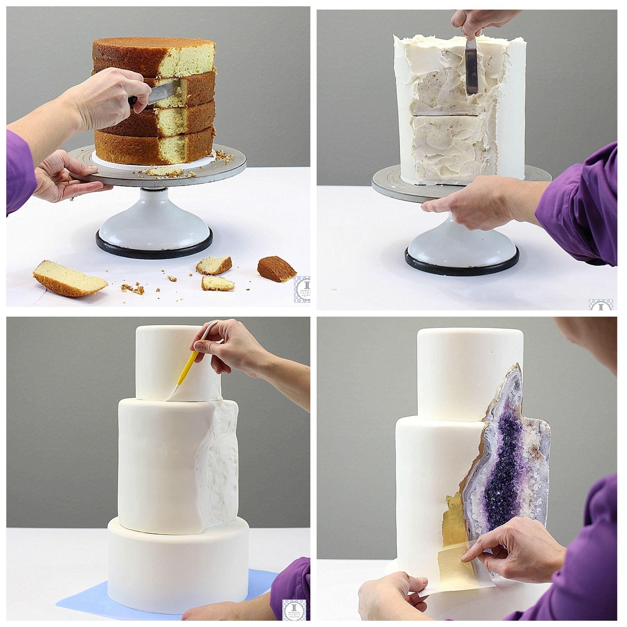 Hochzeitstorte selber machen Kristall Torte