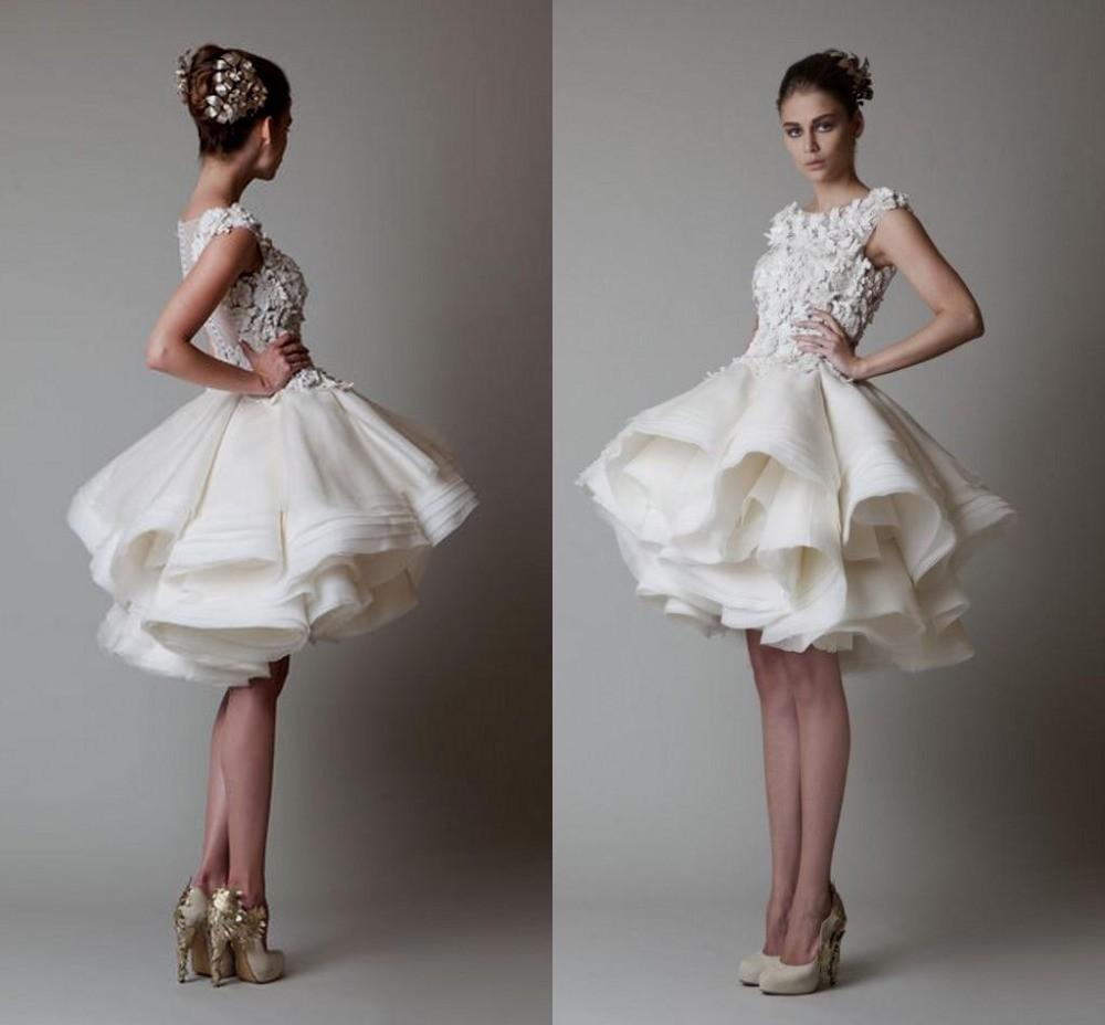 kurzes Hochzeitskleid Rock voluminös