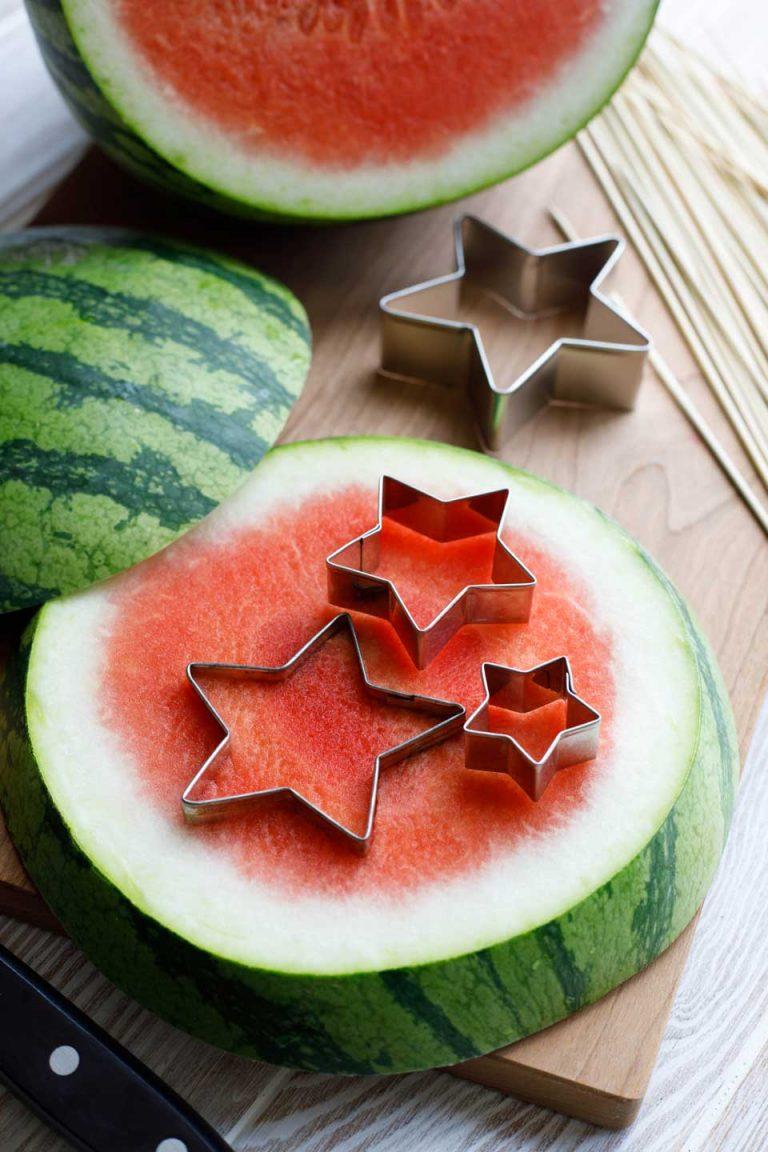 Оbstspieße Кindergeburtstag - Fruchtspieße mit Wassermelone