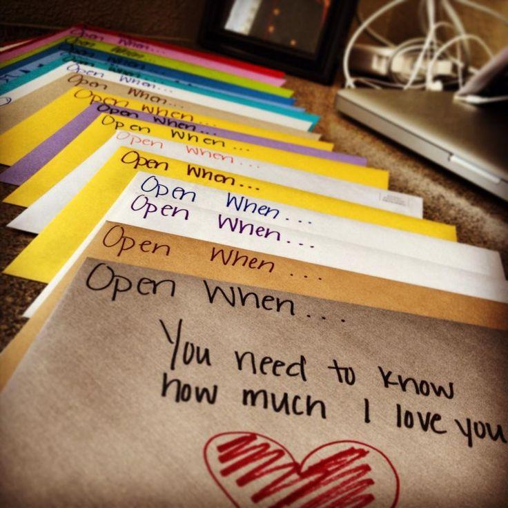 Geschenkidee Öffne mich wenn Briefe