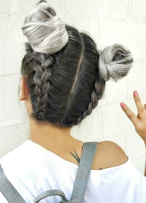 Passende Frisuren mit Ombre Grau Look