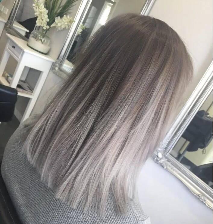 Ombre Grau - Der neue Trend für hellblonde Haare